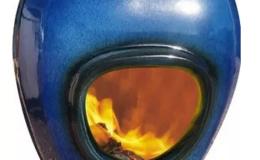 African Flame keramiek pothaard Blue zeeblauw