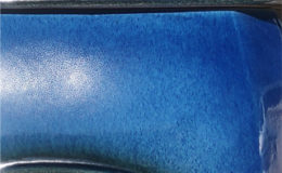 potkachel BLUE african flame houtvuur DETAIL