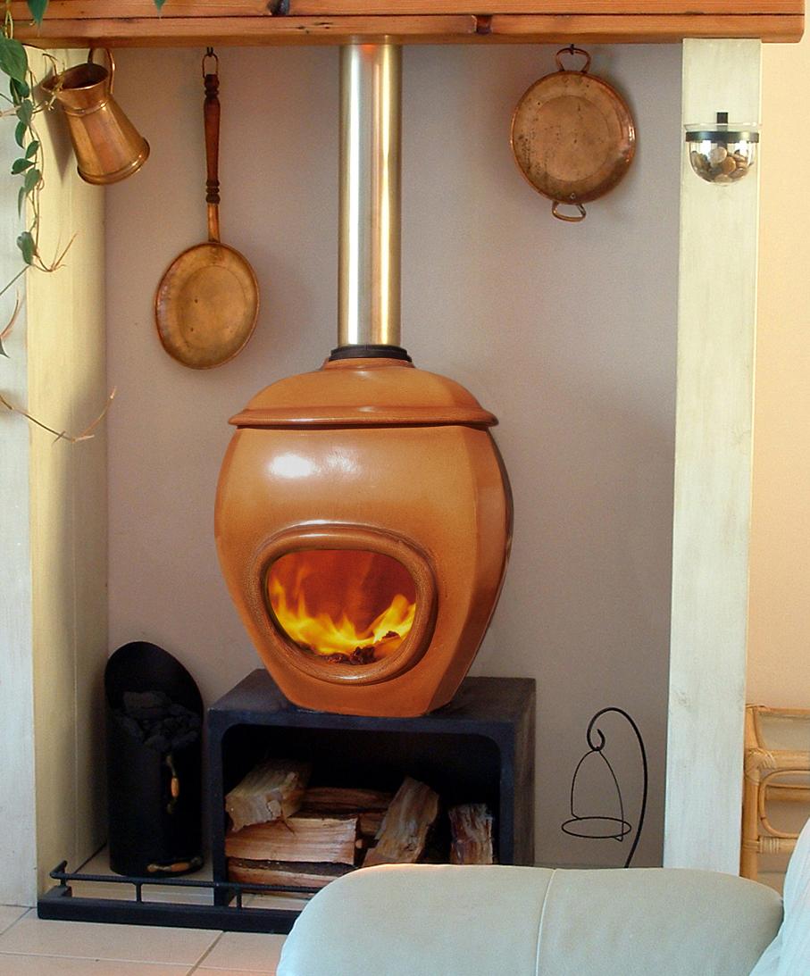 potkachel Earth african flame houtvuur